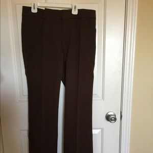 Gap stretch flare brown pants